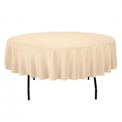 Tablecloth Polyester Round Seamless (One Piece) 83 Inch Light Pink By Broward Linens