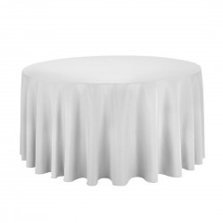 Tablecloth Polyester Round Seamless (One Piece) 108 Inch Black By Broward Linens