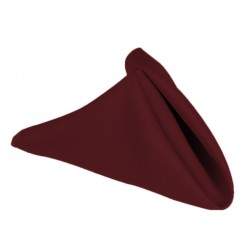 Napkins Polyester 15 X 15 Inch (6 Units) Burgundy By Broward Linens