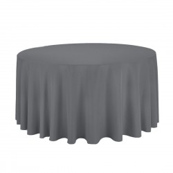 Tablecloth Polyester Round Seamless (One Piece) 108 Inch Royal Blue By Broward Linens