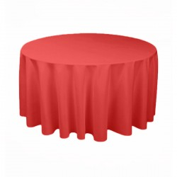 Tablecloth Polyester Round Seamless (One Piece) 108 Inch Fucsia By Broward Linens