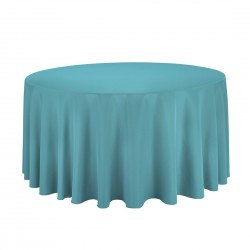 Tablecloth Polyester Round Seamless (One Piece) 108 Inch Coral By Broward Linens
