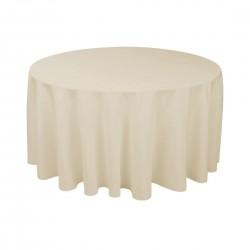 Tablecloth Polyester Round Seamless (One Piece) 108 Inch Beige By Broward Linens