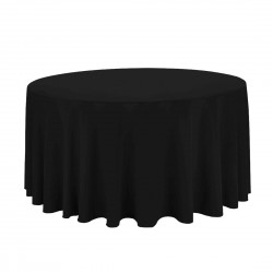 Tablecloth Polyester Round Seamless (One Piece) 120 Inch Ivory By Broward Linens