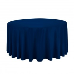Tablecloth Polyester Round Seamless (One Piece) 120 Inch White By Broward Linens
