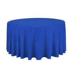 Tablecloth Polyester Round Seamless (One Piece) 120 Inch Navy Blue By Broward Linens