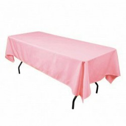 Tablecloth Polyester Rectangular Seamless (One Piece) 72x90 Inch Pink By Broward Linens