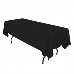 Tablecloth Polyester Rectangular Seamless (One Piece) 82x108 Inch White By Broward Linens