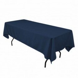 Tablecloth Polyester Rectangular Seamless (One Piece) 82x108 Inch Black By Broward Linens