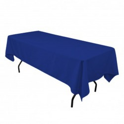 Tablecloth Polyester Rectangular Seamless (One Piece) 82x108 Inch Navy Blue By Broward Linens