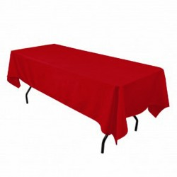 Tablecloth Polyester Rectangular Seamless (One Piece) 82x108 Inch Turquoise By Broward Linens