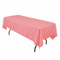 Tablecloth Polyester Rectangular Seamless (One Piece) 82x108 Inch Red By Broward Linens