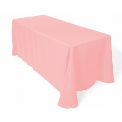 Tablecloth Polyester Rectangular Seamless (One Piece) 90x108 Inch Pink By Broward Linens