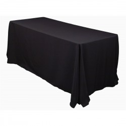 Tablecloth Polyester Rectangular Seamless (One Piece) 90x132 Inch Navy Blue By Broward Linens