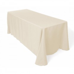 Tablecloth Polyester Rectangular Seamless (One Piece) 90x132 Inch Hot Pink By Broward Linens