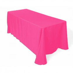 Tablecloth Polyester Rectangular Seamless (One Piece) 90x156 Inch Light Pink By Broward Linens