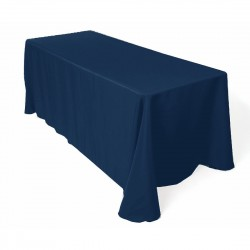 Tablecloth Polyester Rectangular Seamless (One Piece) 90x156 Inch Royal Blue By Broward Linens