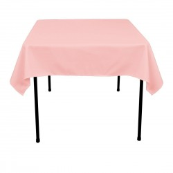 Tablecloth Polyester Square Seamless (One Piece) 72x72 Inch Pink By Broward Linens