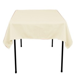 Tablecloth Polyester Square Seamless (One Piece) 81x81 Inch White By Broward Linens