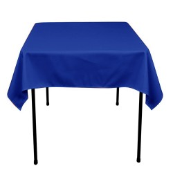 Tablecloth Polyester Square Seamless (One Piece) 81x81 Inch Navy Blue By Broward Linens