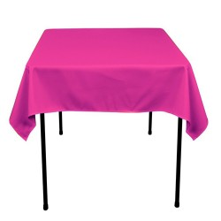 Tablecloth Polyester Square Seamless (One Piece) 81x81 Inch Pink By Broward Linens
