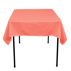 Tablecloth Polyester Square Seamless (One Piece) 81x81 Inch Hot Pink By Broward Linens