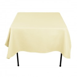 Tablecloth Polyester Square Seamless (One Piece) 90x90 Inch White By Broward Linens