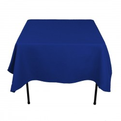 Tablecloth Polyester Square Seamless (One Piece) 90x90 Inch Navy Blue By Broward Linens