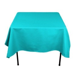 Tablecloth Polyester Square Seamless (One Piece) 90x90 Inch Royal Blue By Broward Linens