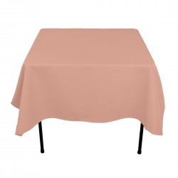Tablecloth Polyester Square Seamless (One Piece) 90x90 Inch Red By Broward Linens