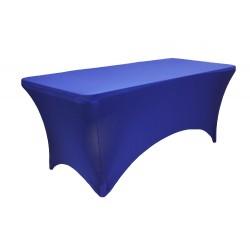 Stretch Tablecloth Rectangular Spandex 6 foot Royal Blue By Broward Linens