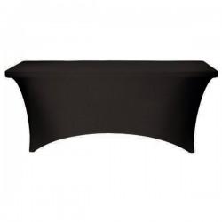 Stretch Tablecloth Rectangular Spandex 8 foot Black By Broward Linens