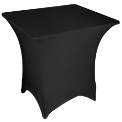 Stretch Tablecloth Square Fitted Spandex & Polyester 5 Foot Black By Broward Linens