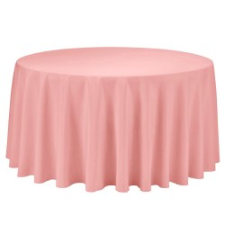 Tablecloth Polyester Round Seamless (One Piece) 120 Inch Red By Broward Linens