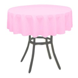 Tablecloth Polyester Round Seamless (One Piece) 83 Inch Pink By Broward Linens