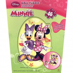 By Broward Toys Minnie Mouse Bow-tique Wall Puzzle ( 46 Pieces )