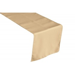 Tablecloth Runner Polyester 12 X 120 Inch Beige Broward Linens