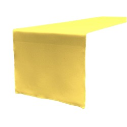 Tablecloth Runner Polyester 12 X 120 Inch Light Yellow Broward Linens