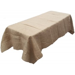 Tablecloth Burlap Natural Rectangular 60 X 102 Inch By Broward Linens