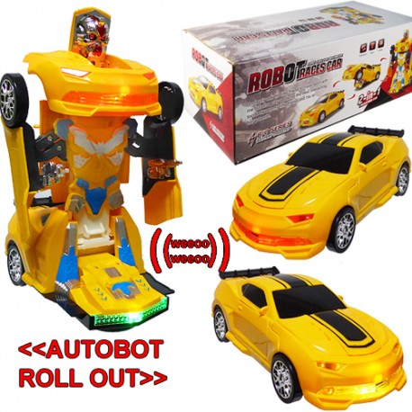 By Broward Toys Bump N Go Transforming Robot Car Toy With Lights And