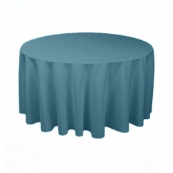 Tablecloth Round 120 Inch Steel Blue By Broward Linens