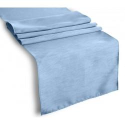 Tablecloth Runner Polyester 12 X 120 Inch Steel Blue Broward Linens