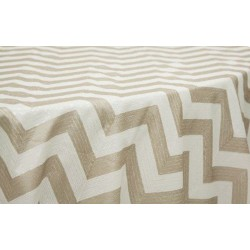 Tablecloth Chevron Square 72 Inch Gold By Broward Linens