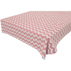 Tablecloth Chevron Square 72 Inch Light Pink By Broward Linens