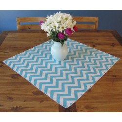 Tablecloth Chevron Square 72 Inch Light Blue By Broward Linens
