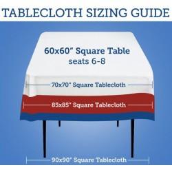 Tablecloth Chevron Square 90 Inch Black By Broward Linens
