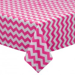 Tablecloth Chevron Square 90 Inch Hot Pink By Broward Linens