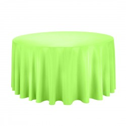 Tablecloth Round 132 Inch Apple Green By Broward Linens