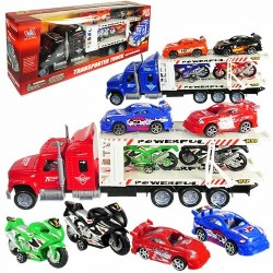 Broward Toys 5 Piece Friction Powered Semis w/ Vehicles