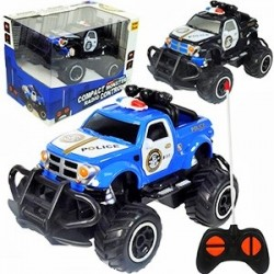 by Broward Toys Compact Monster Police Truck Radio Control